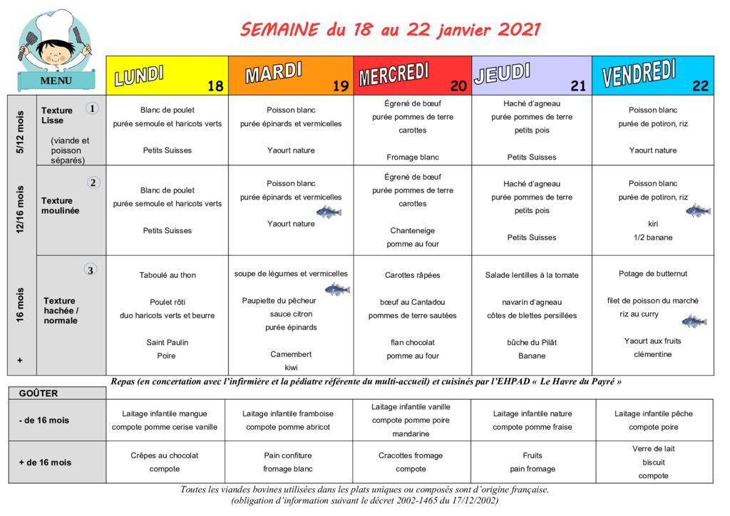 thumbnail of Menus des Moussaillons du 18 au 22 janvier 2021