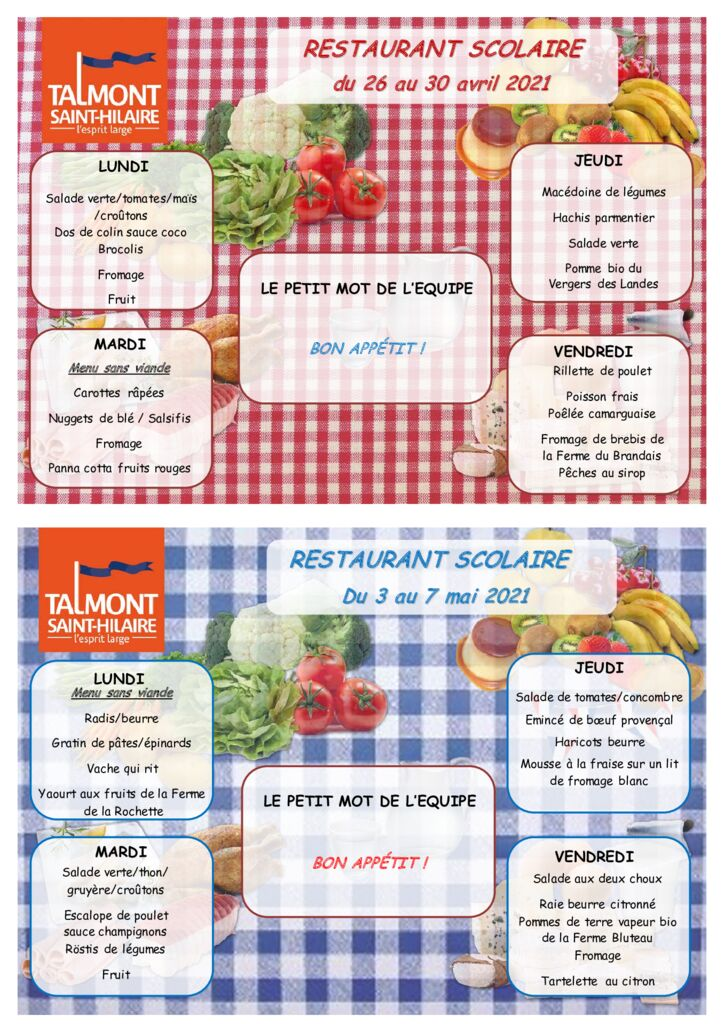 thumbnail of Menus du 26 avril au 7 mai 2021