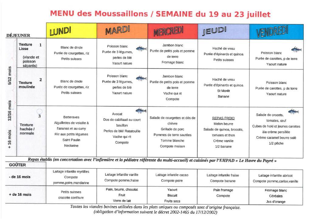 thumbnail of Menus des Moussaillons du Payré du 19 au 23 juillet 2021