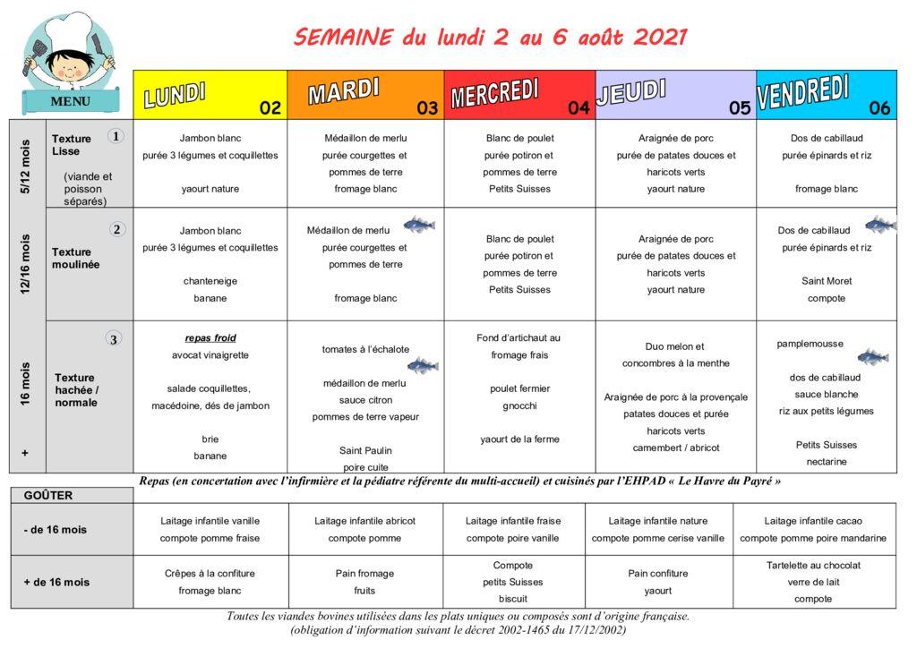 thumbnail of Menus des Moussaillons du Payré du 2 au 6 août 2021